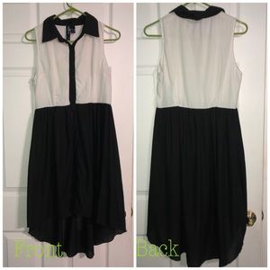 NWOT Black and White high low dress